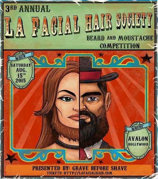 los angeles facial hair society 39 s 3rd annual beard moustache competition is august 15th zeus. Black Bedroom Furniture Sets. Home Design Ideas